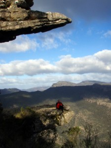 Jude at the lookout point in the Grampians