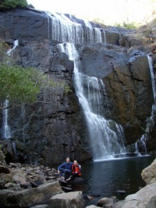 Jon and Jude at one of the waterfalls in the Grampians