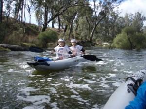 Jude and Troye kayaking