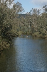 team 'Woop Woop' finishing their paddle
