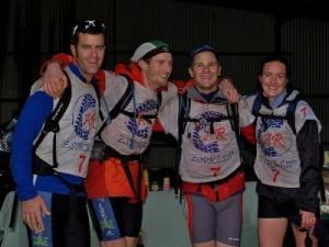team 'Woop Woop' across the line
