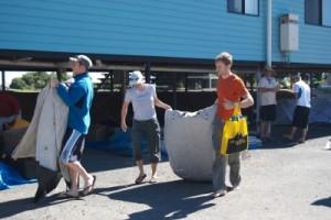 picking up our kayaks