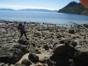 hiking on some of the islands to get CPs