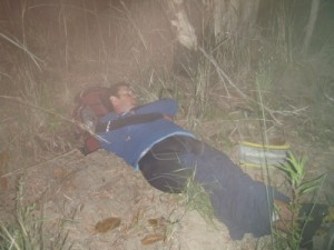 Muz takes the opportunity to sleep again :-)
