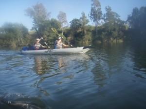 paddling a calm river