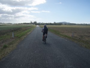 riding into the sugar cane fields