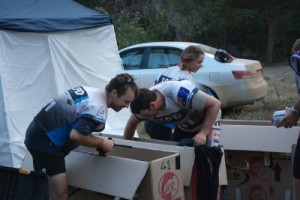 packing up our bike boxes