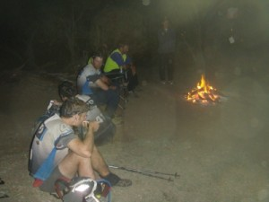 a quick break at the fire