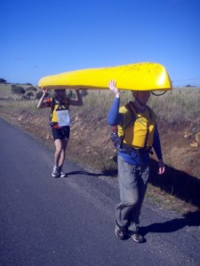 we opt to carry the kayak for a section