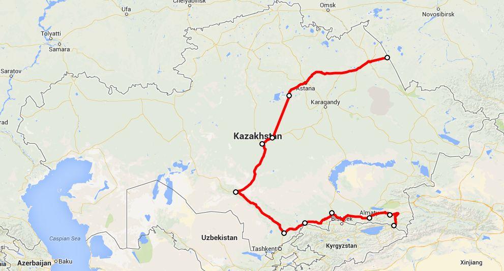2013 route Kazakhstan