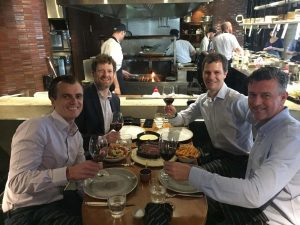 the old team gets together again for a relaxed lunch - Piotr, Daniel, Jon and Adam