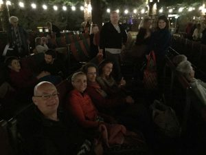 even the outdoor movies at Somerville have started already this time - with Greg, Jude, Regine, Kat and Joel