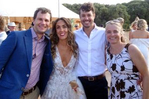 Jon, the stunning bride, the crazy groom and Jude