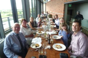 a delicious lunch in the Royal Shakespeare Theatre for Jon's parents' golden wedding anniversary