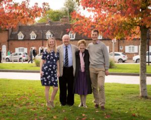 Claire, Ian, Bernice and Jon in Stratfor upon Avon for Jon's parents' golden wedding anniversary (50 years together as a married couple!) - photo credit Claire Williamson