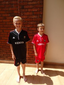 Niels & Jens in their new outfits