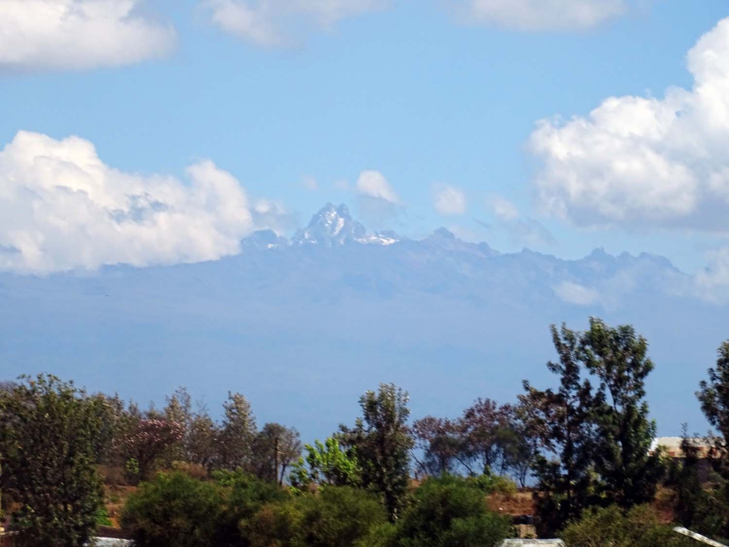 view of Mt Kenya from the Aberdares