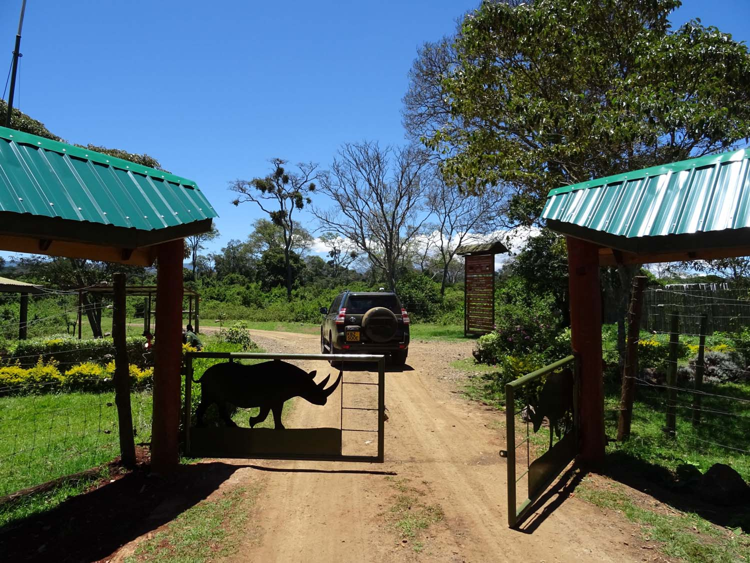 Ark entrance gate to the Aberdares NP
