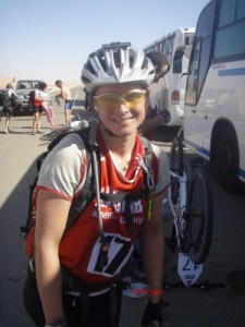 at the start of the mtb through the desert