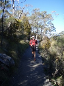 running up Mt Lofty