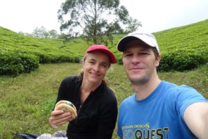 packed lunch on one of our walks in the middle of the tea plantations