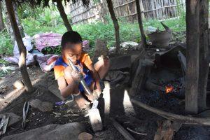 a young blacksmith