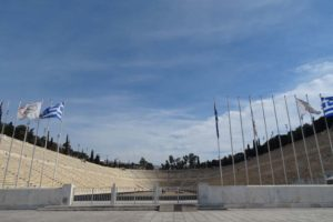 panathenaic stadium - the ceremony with the olympic flame takes place here before starting its journey to the olympic location of that year