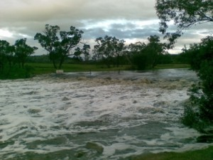 even the weir is almost completely under water