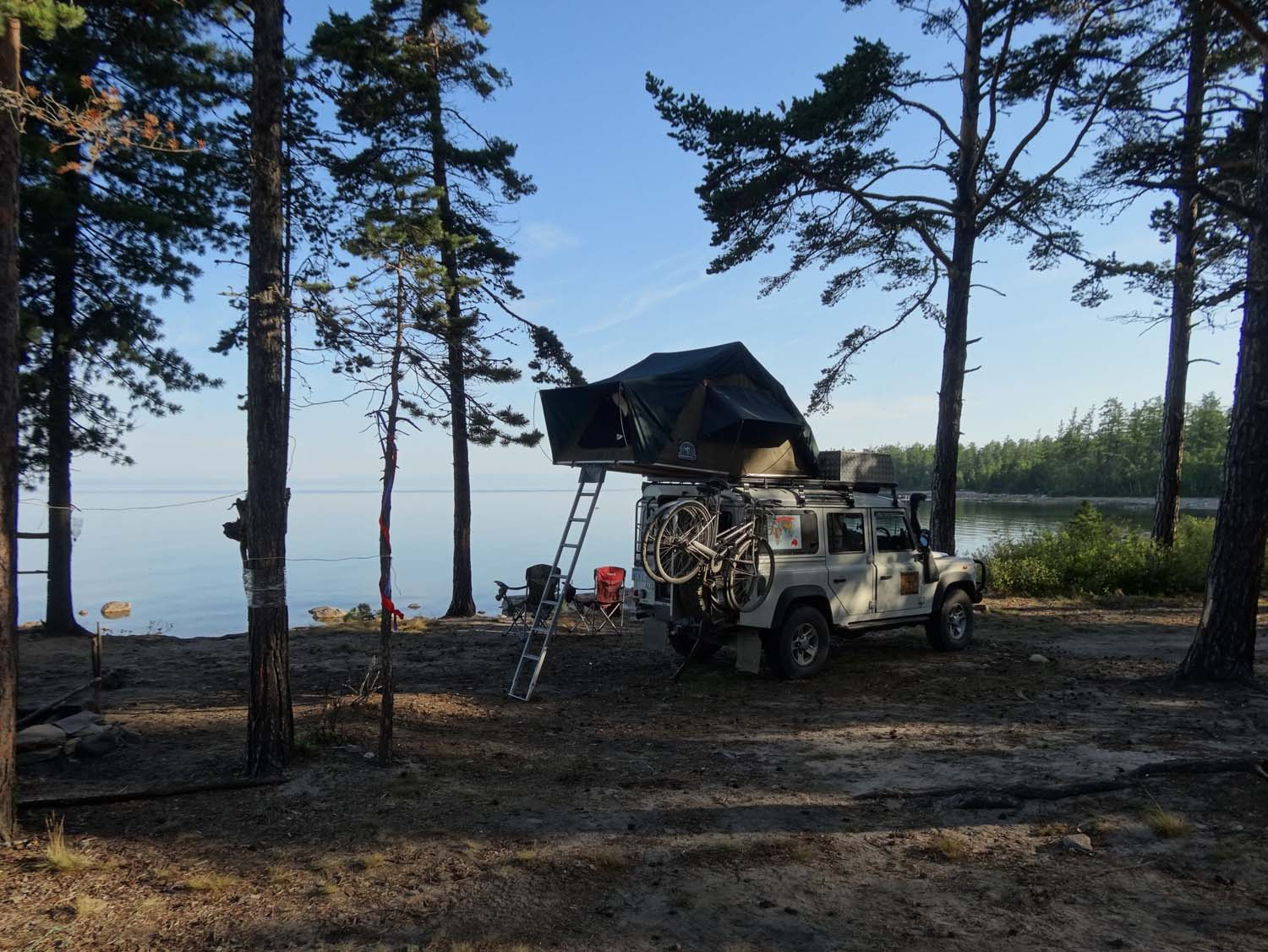 another campsite at Lake Baikal