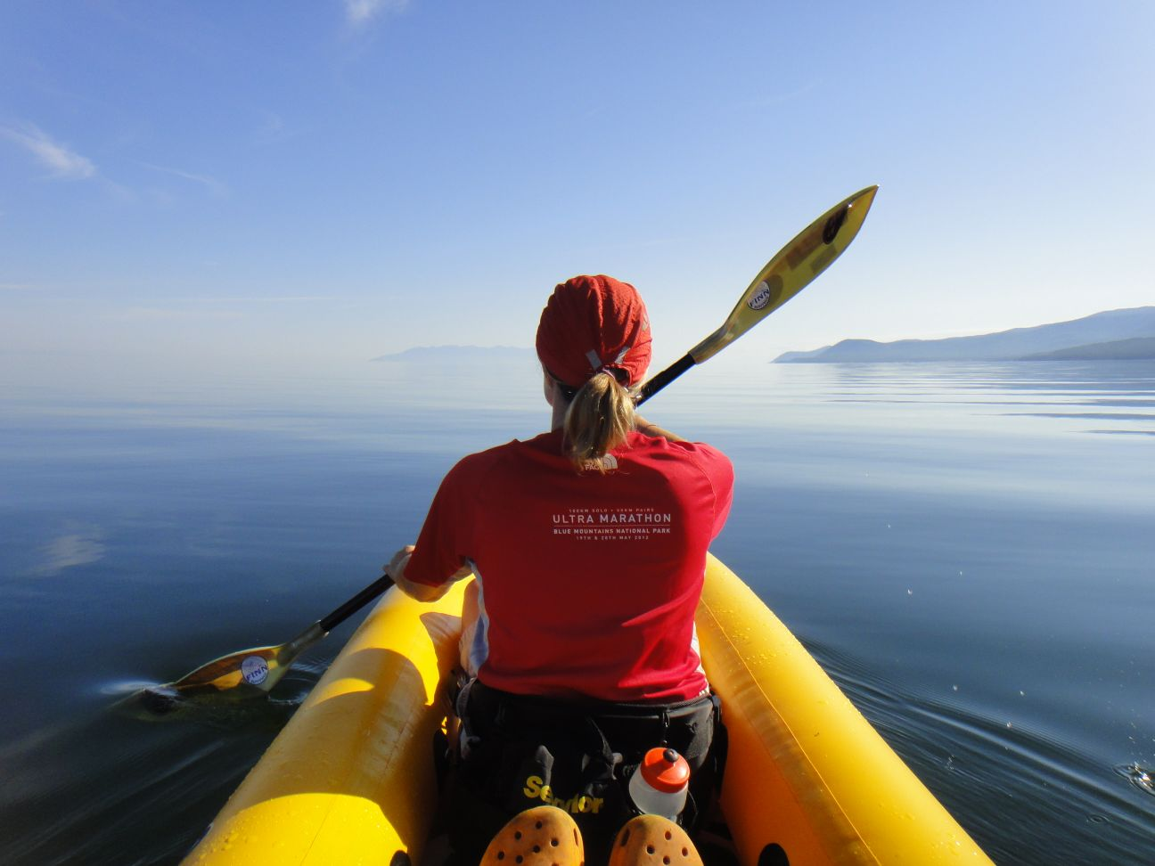 our morning paddle on a wind still Lake Baikal