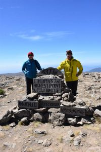 Jon and Jude on top of Tulu Dimtu - Ethiopia's second highest point