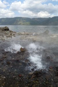 hot stuff bubbling away at the edge of Lake Bogoria