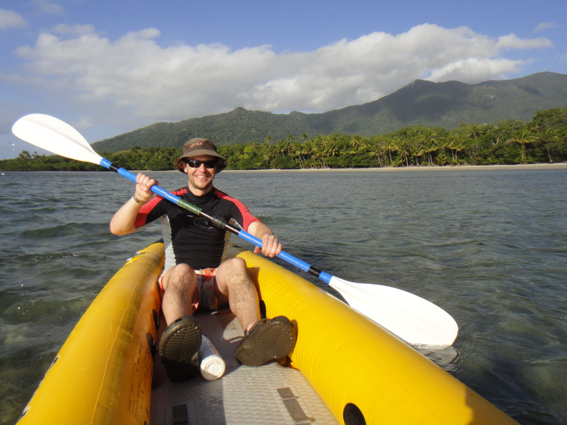 a lovely paddle at Cape Tribulation - where the rainforest meets the reef