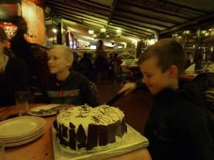Jens cutting his cake