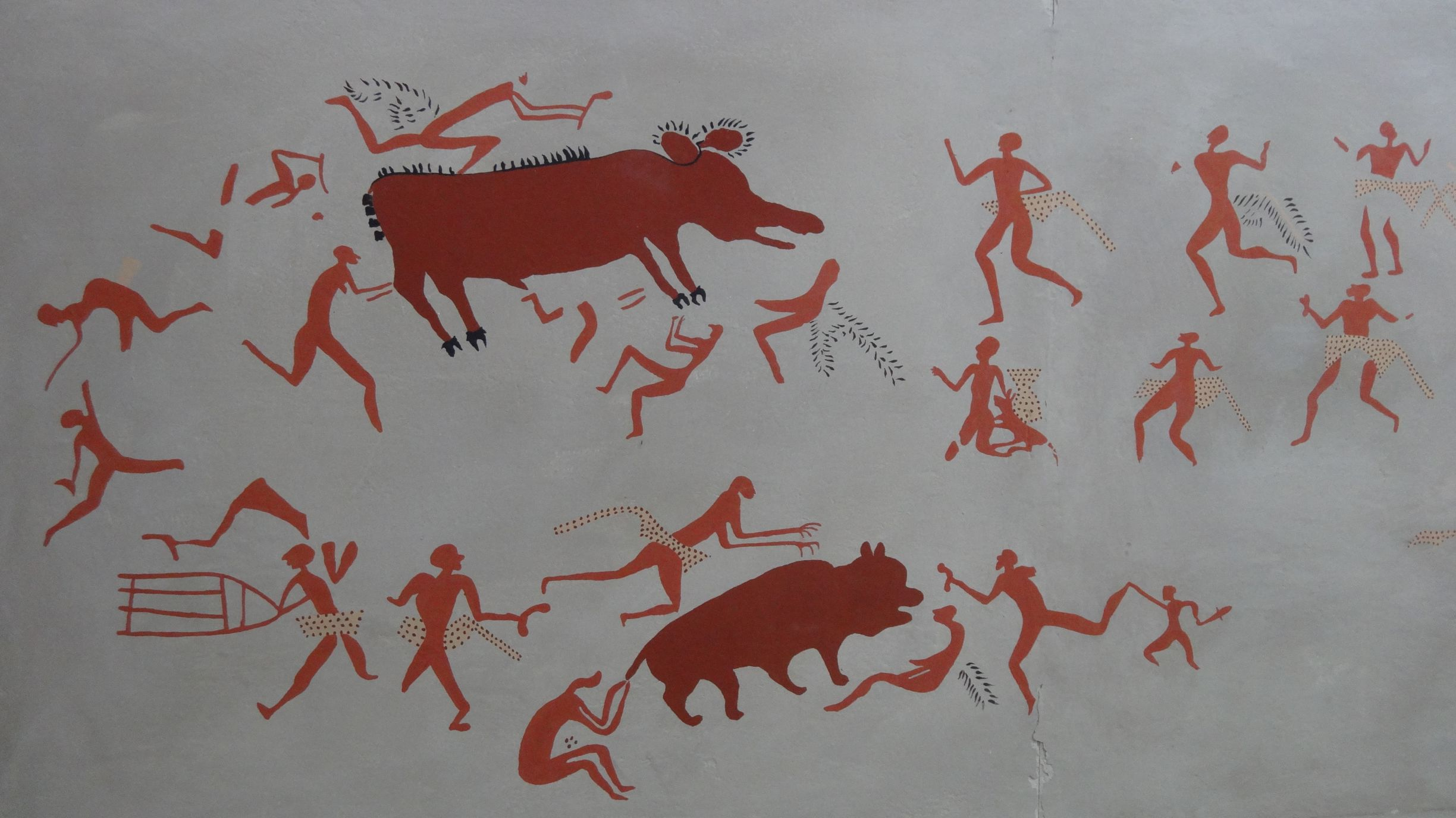 one of many wall paintings discovered in Catalhoyuk