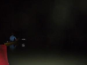 paddling back in the dark
