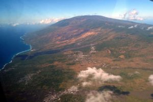 Mt Karthala from the air on Grande Comore