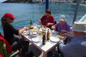 only one place open in Loutro, luckily they serve an excellent lunch
