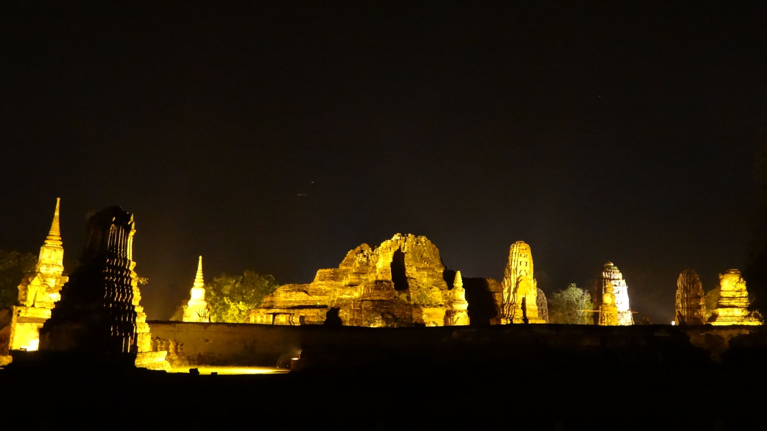 some ruins look even more impressive by night