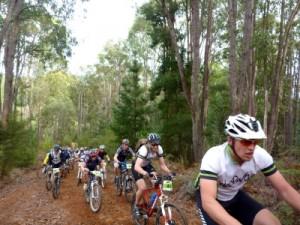 Jake and Pete cycling up Big Bertha