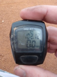 a little more than 100km...