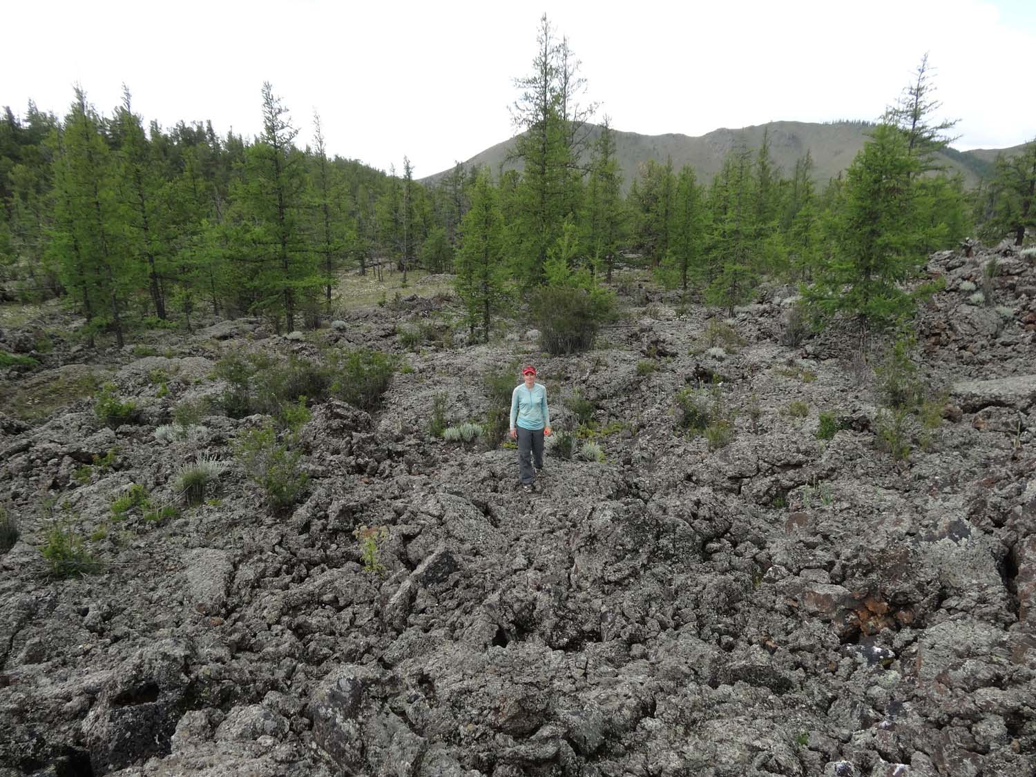 hopping the old lava fields - still dry
