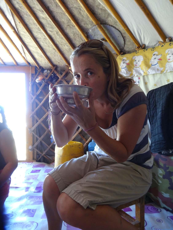 fermented mare's melk (gefermenteerde merrie melk) is as good as it sounds