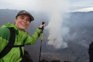 Jude's first view of the bubbling lava lake