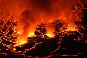 watching the lava is like watching a campfire, it never stops moving and is completely mesmerising