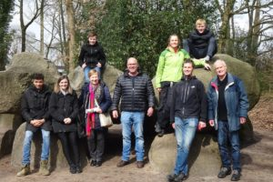the whole family on the largest hunebed in Holland