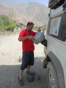 Sometimes the petrol station look a little different than at home, this one is in Tajikistan on the way to Dushanbe.