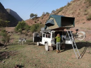 Another lovely campsite next to the road on our way to Dushanbe, Tajikistan.