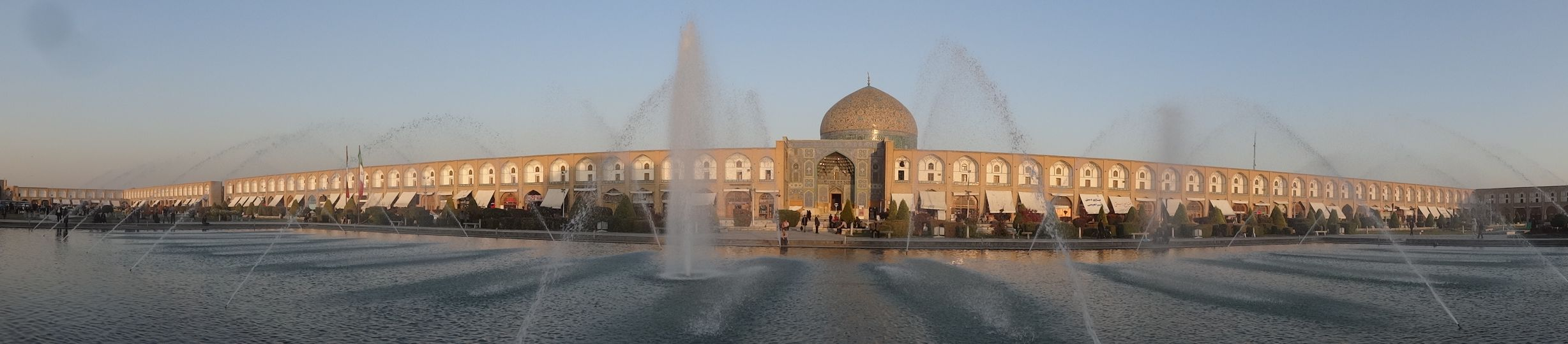 Imam Square fountain in Esfehan