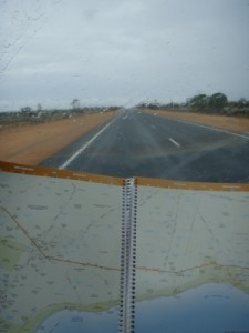 start of the longest stretch of straight road on the Nullarbor